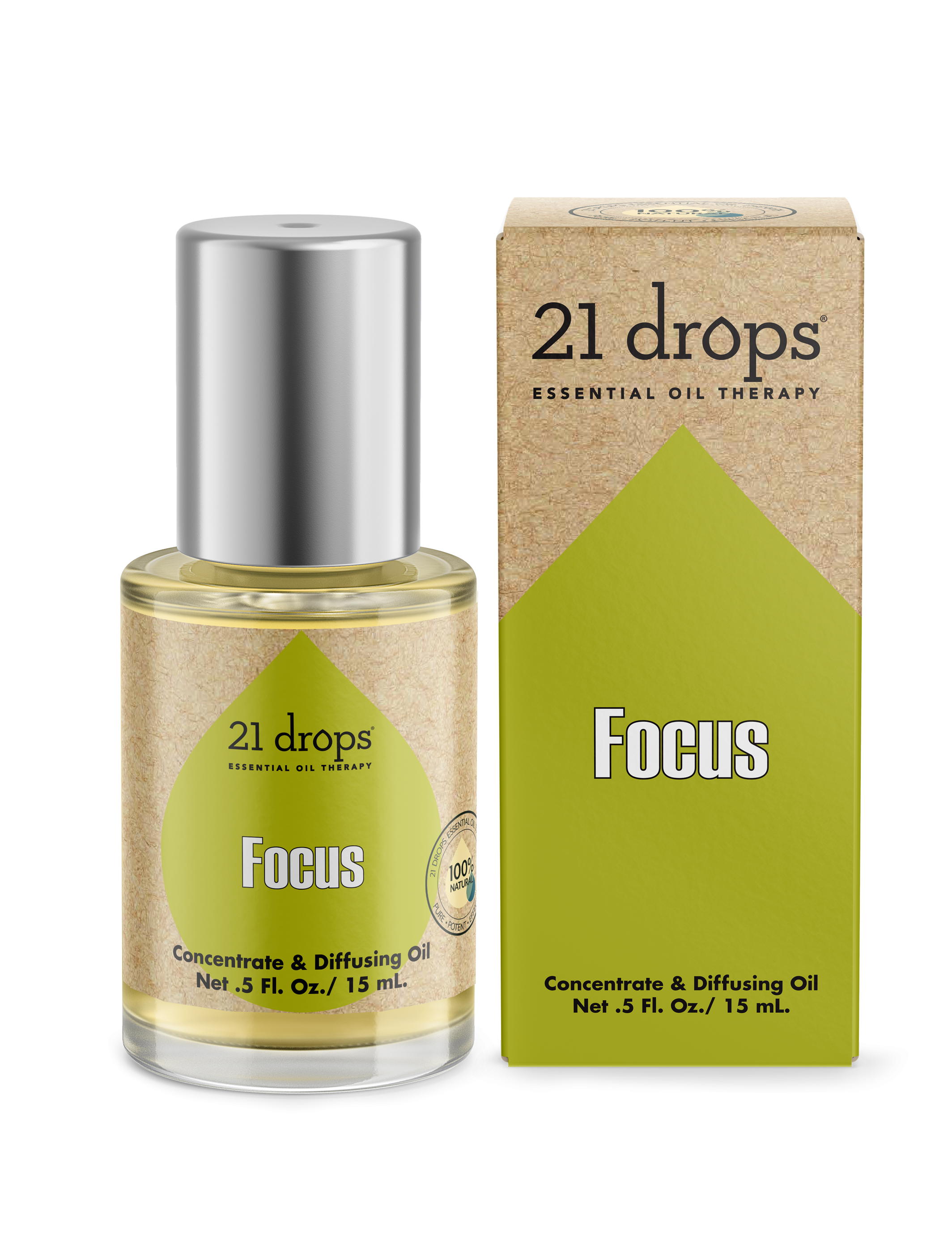 21 drops focus #09 essential oil aromatherapy concentrate and diffusing oil