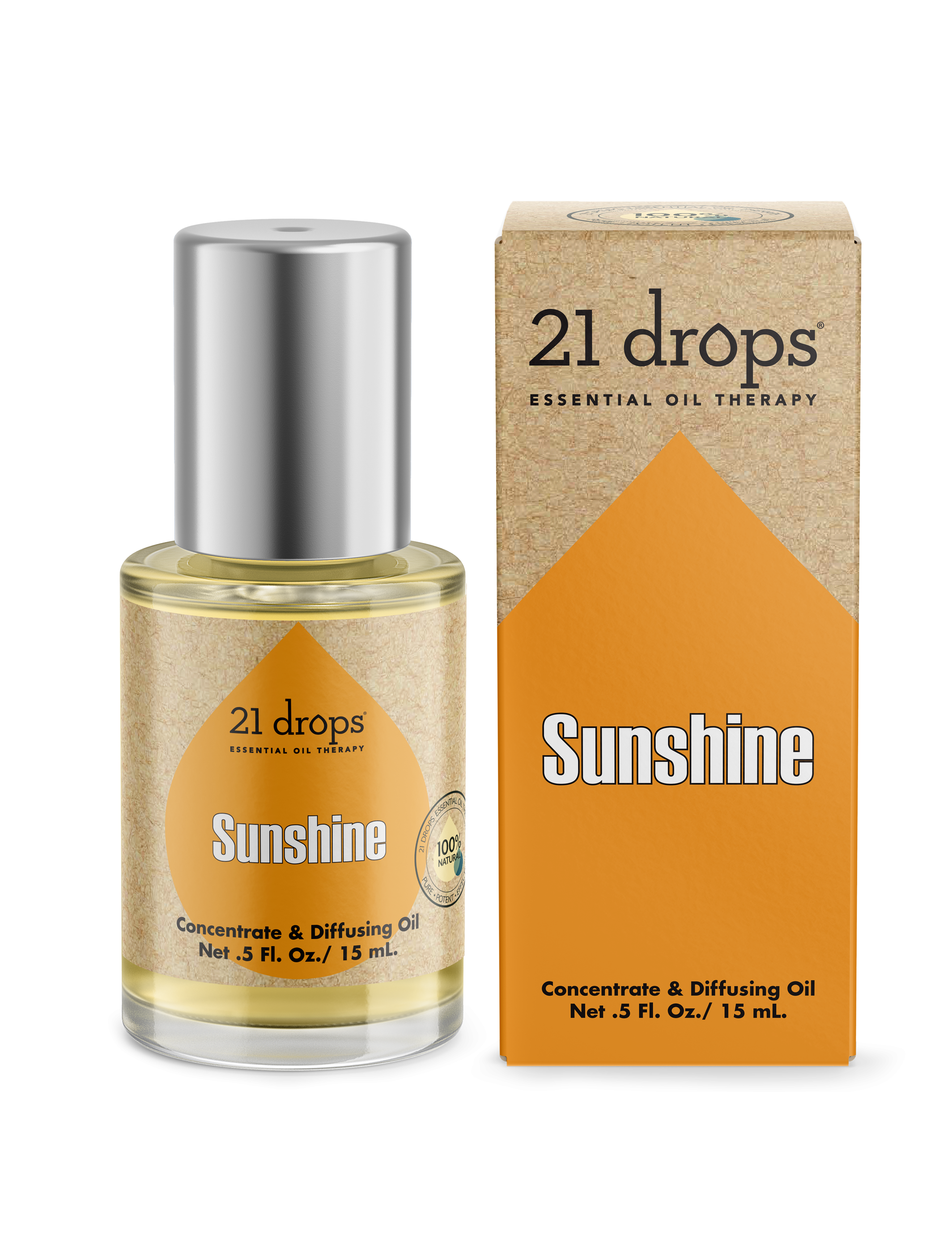 21 drops sunshine essential oil concentrate diffusing oil