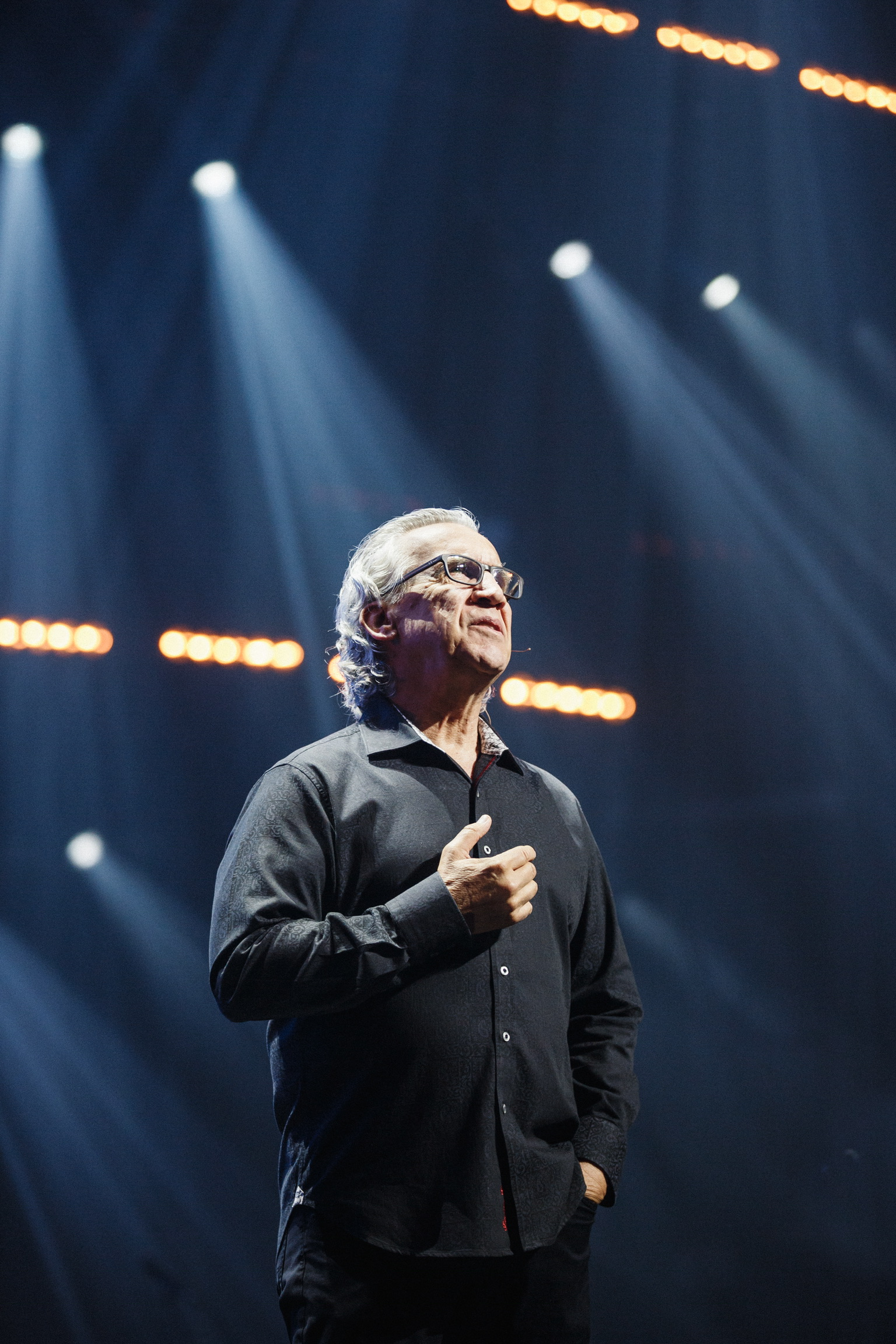 Bill Johnson preaching on stage.