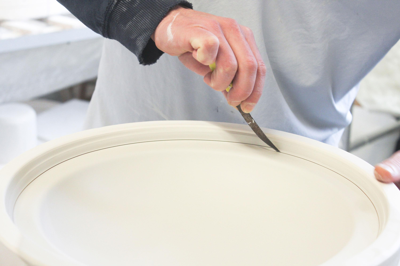 White Sculptural Fine Bone China Production