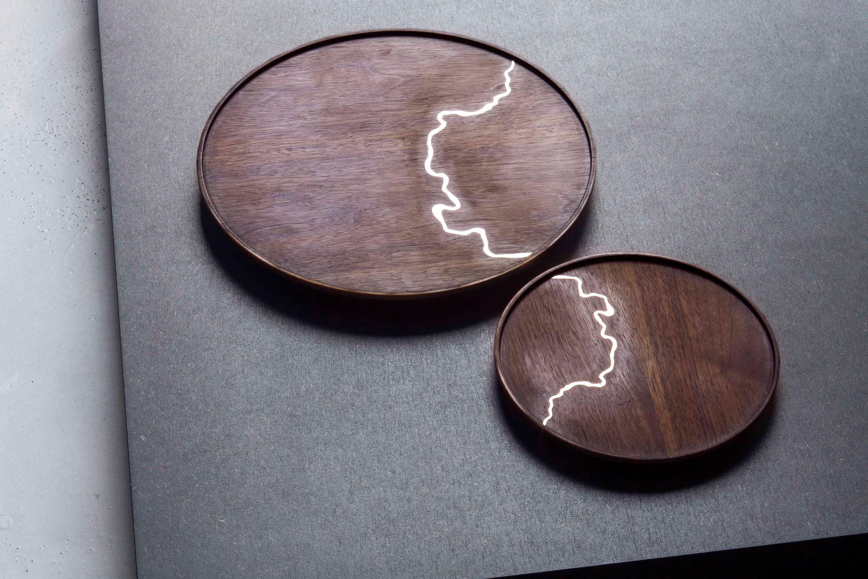 Tane Atlas Silver Plates designed by Bodo Sperlein