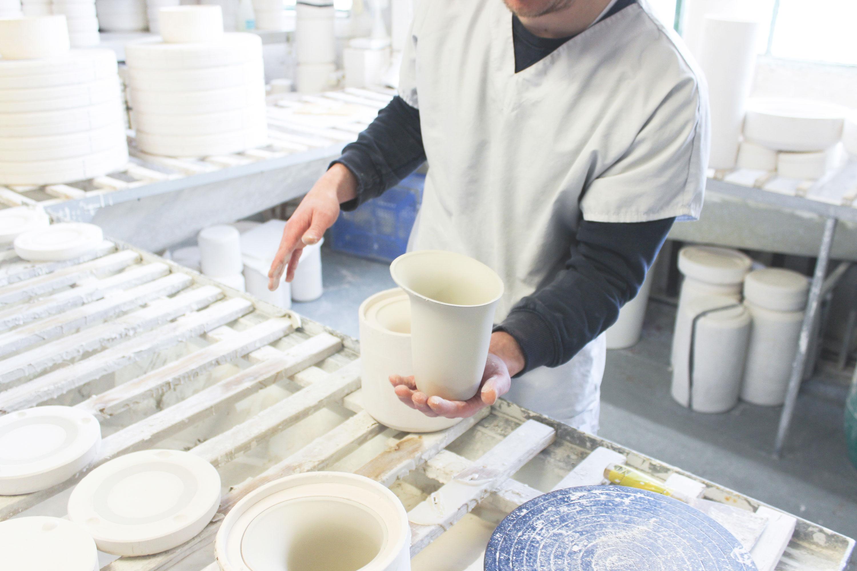 White Sculptural Fine Bone China Ceramics Production