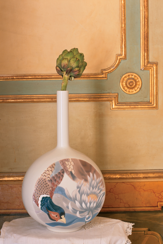 Lladro Ceramic Canvas Vase Designed by London Based Studio Bodo Sperlein