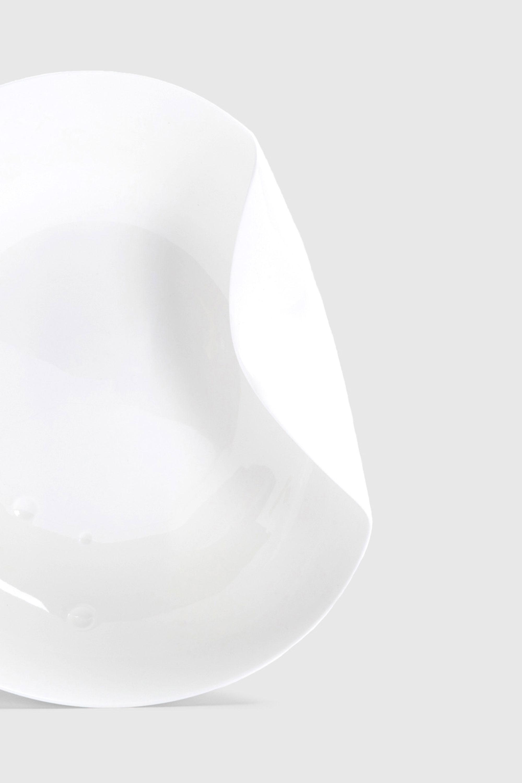 White Sculptural Fine Bone China Fruit Bowl designed by Bodo Sperlein