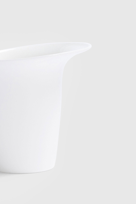 White Sculptural Fine Bone China Luna Mug designed by Bodo Sperlein
