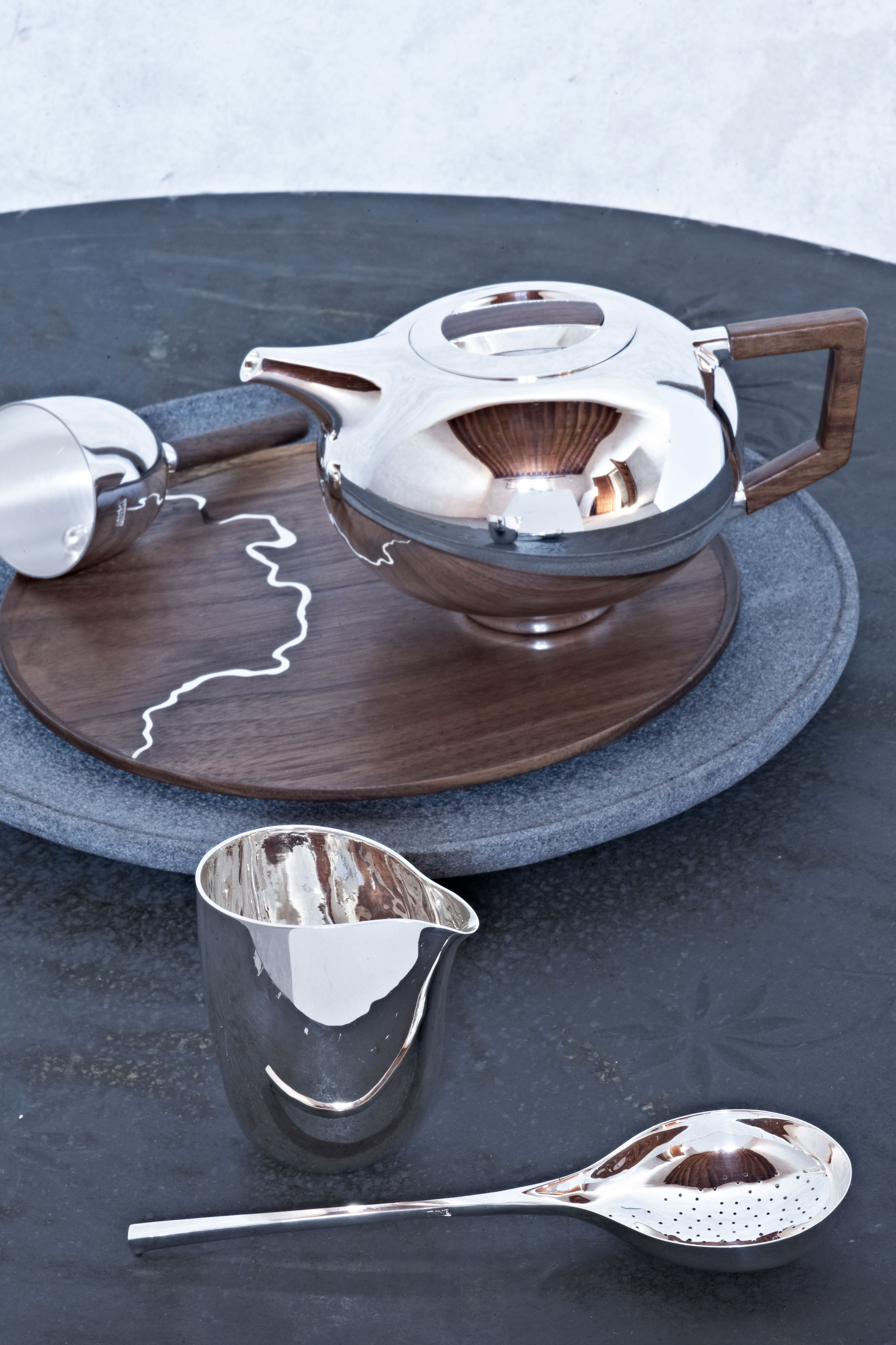 Tane Handcrafted Silver Teaware Teapot designed by Bodo Sperlein
