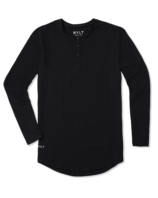 Henley Drop-Cut Long Sleeve: LUX