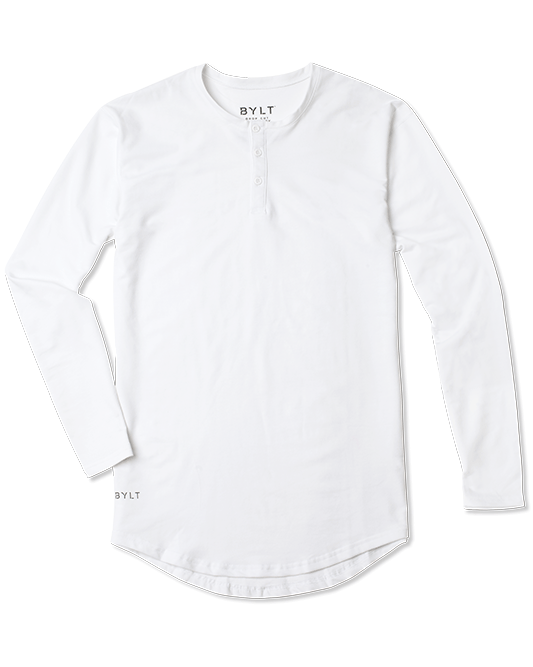 Henley Drop-Cut L/S: Everyday Fit LUX