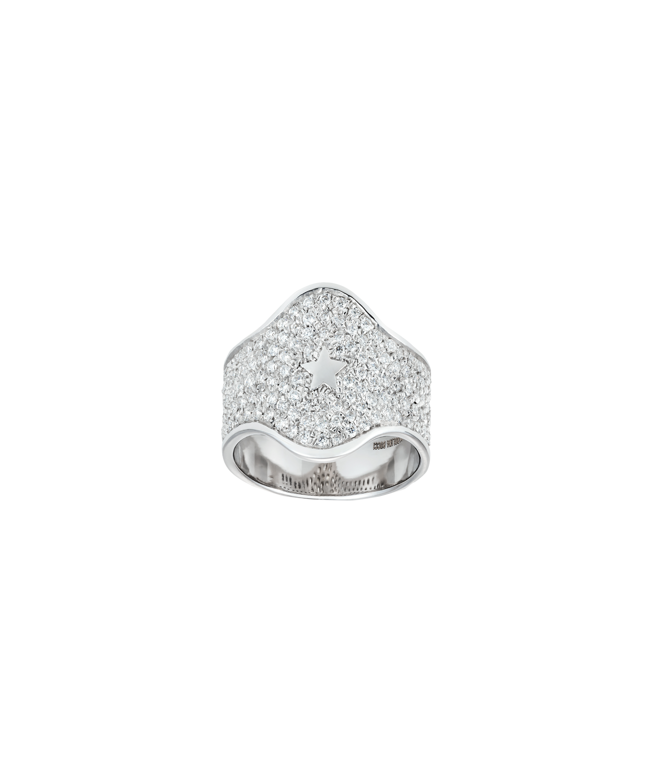 Carolina Bucci Diamond Pavé Shield Ring