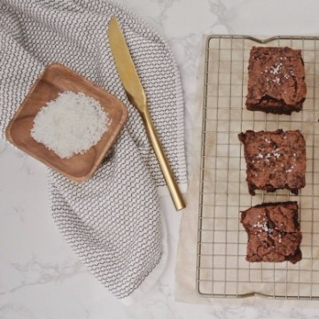 Fleur de Sel Salted Brownies Recipe, Ready for Serving