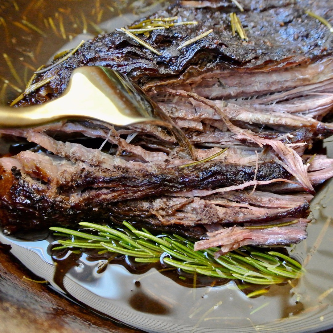 Balsamic Rosemary Beef Recipe Ready for Serving