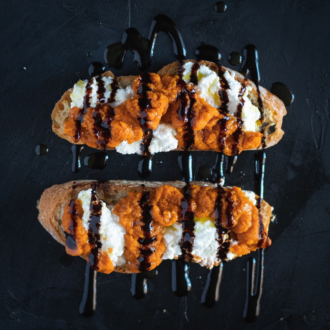 Pumpkin & Ricotta Bruschetta Recipe
