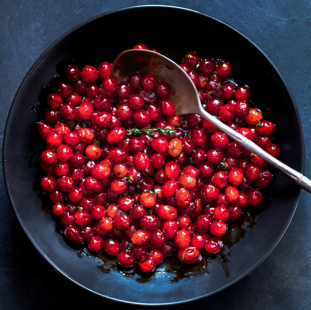 Balsamic Cranberries
