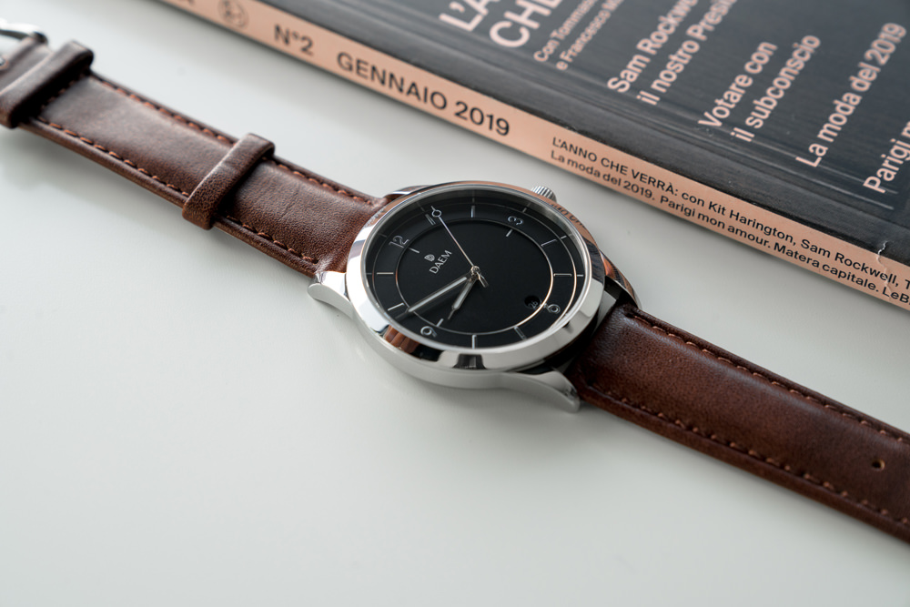 DAEM Sterling Brown leather watch