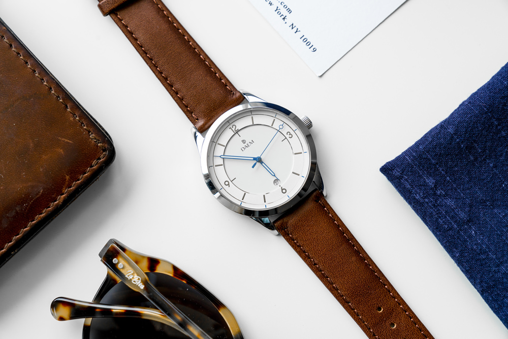 DAEM Royal Brown leather watch