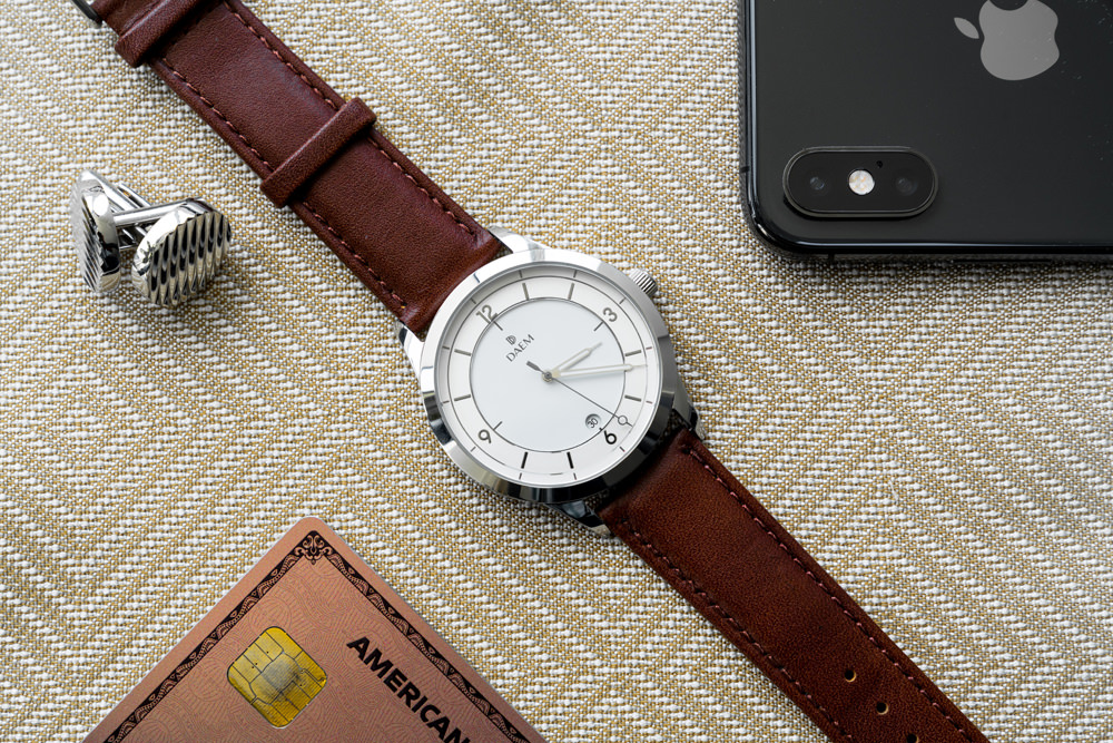 DAEM Slate Brown leather watch
