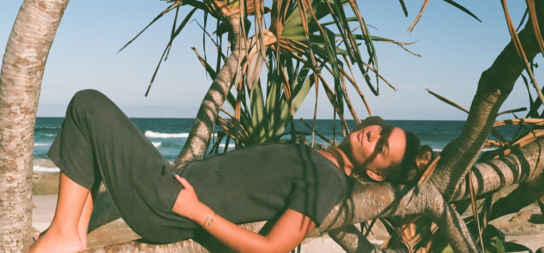 Tasi Travels' Charcoal Vagabond Jumpsuit is handmade in Australia from a sustainable Tencel & hemp blend