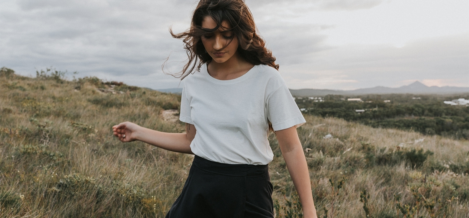 Tasi Travels' Black Wilder Wrap Skirt is handmade in Australia from sustainable Tencel