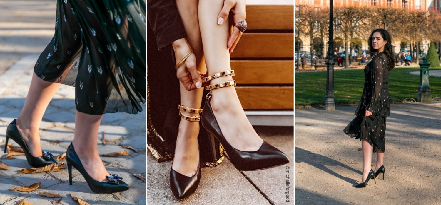 The Midnight Black Mulan Platform Heel from VEERAH is a seductive stiletto with removable braided tassel. Ethically & sustainably made in supple vegan leather.