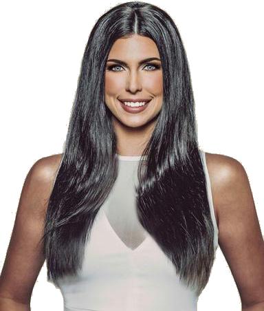 Erabella #1B black/brown clip in hair extensions