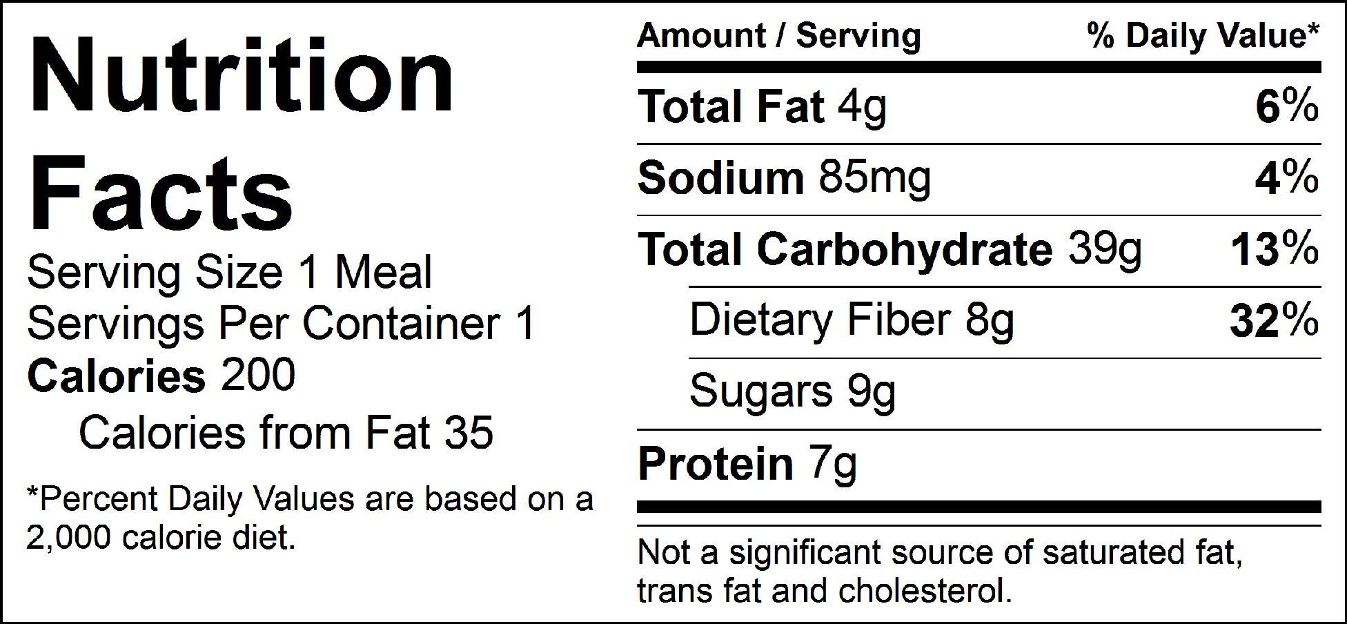 veggie heaven nutrition facts