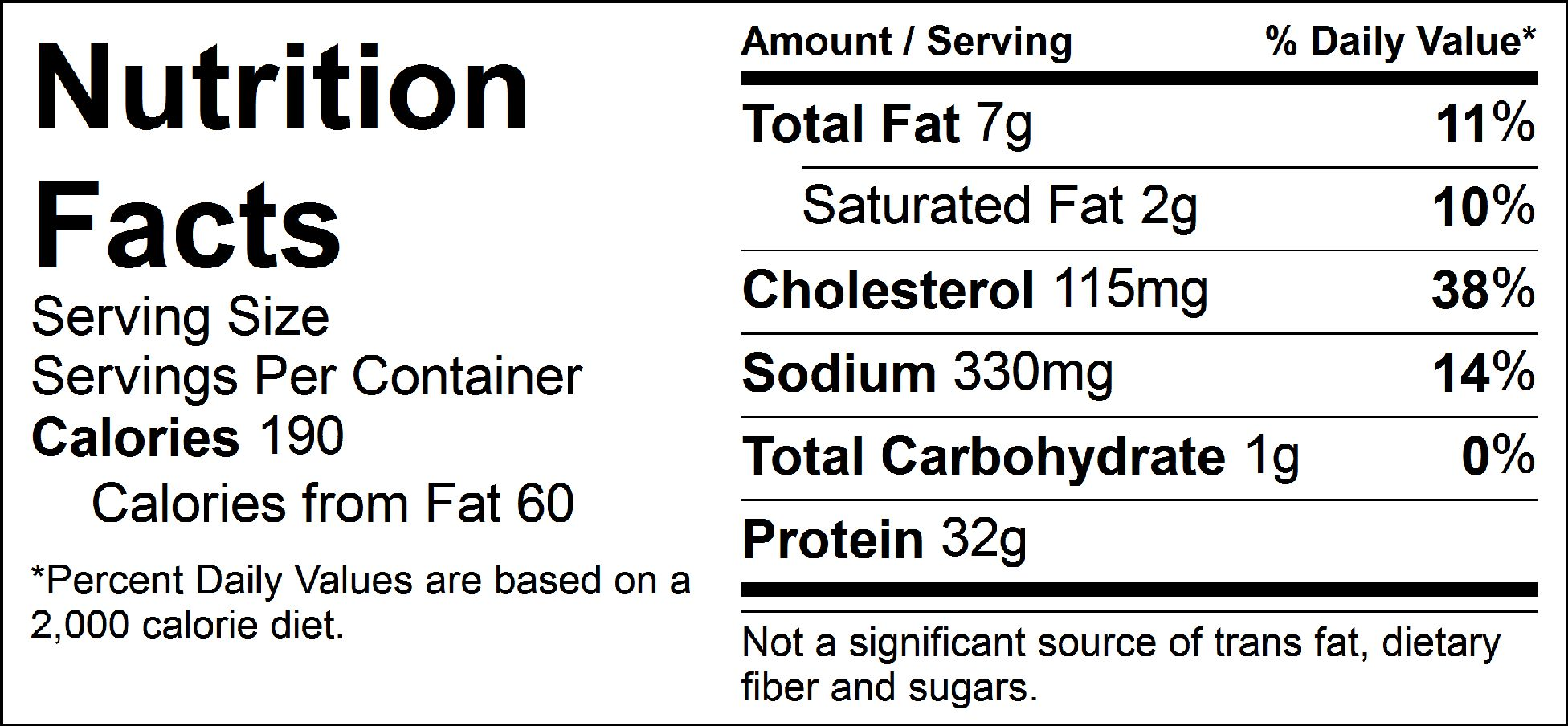 pure protein classic turkey burger nutrition facts