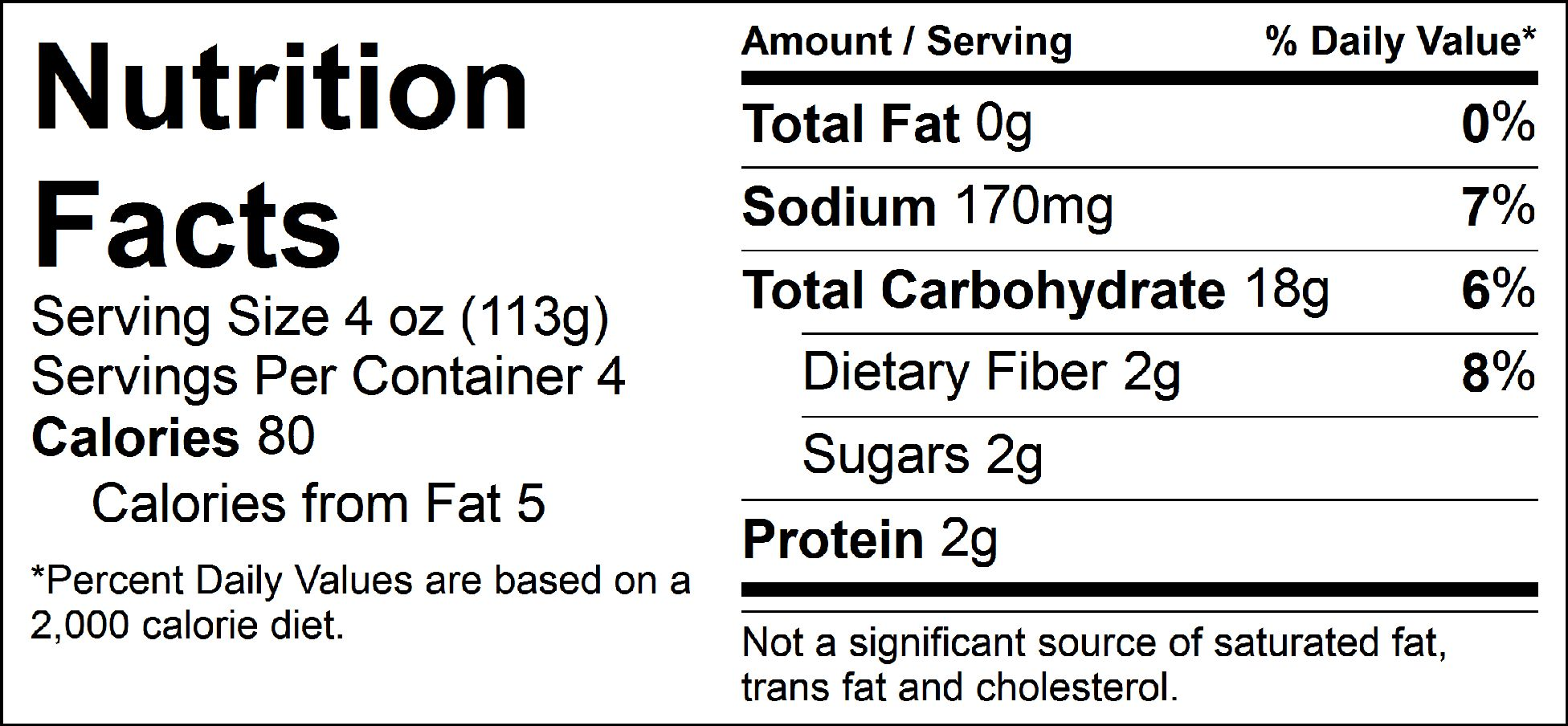 carb load smashed potatoes nutrition facts