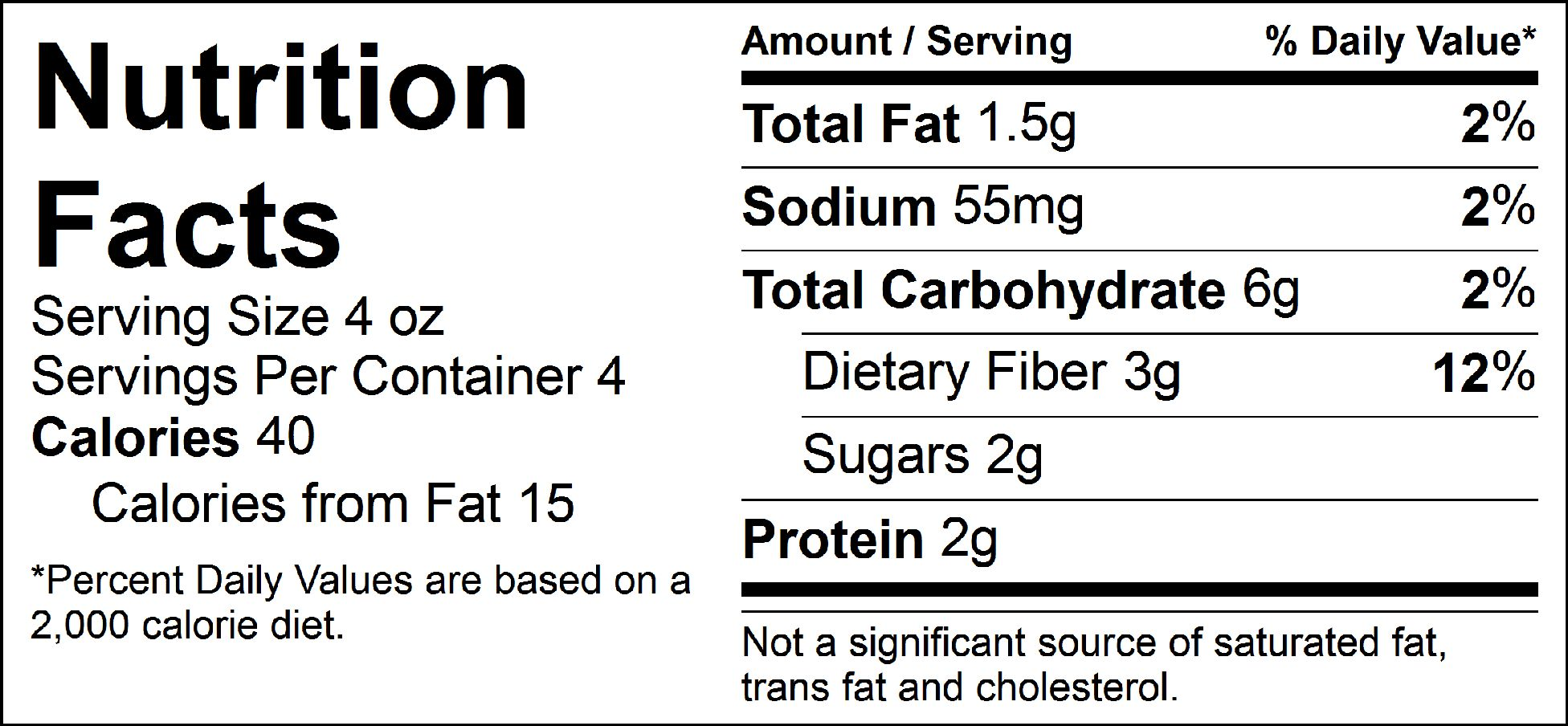 bulk veggies veggie medley nutrition facts