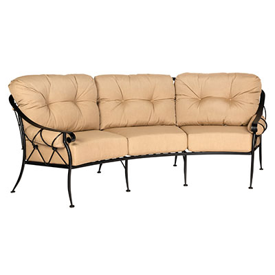 Derby outdoor crescent sofa by Woodard