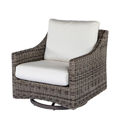 Avallon Outdoor Woven Club Swivel Glider by Ebel