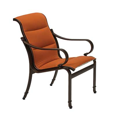 Torino Padded Sling  Dining Chair with orange fabric