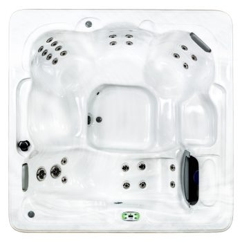 White Hot Tub Shell Color