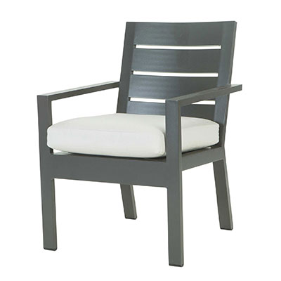 Palermo Aluminum Patio Dining Chair by Ebel