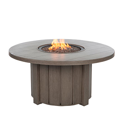 "Trevi 50"" Outdoor Aluminum Gas Fire Pit  by Ebel"