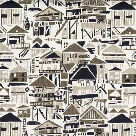 Beach Houses Sunbrella Outdoor Fabric