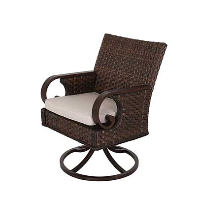 Brooks Outdoor Swivel dining Chair by Patio Time