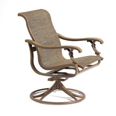 Revallo Sling Swivel  Patio Dining Chair
