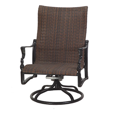 Bel Air Woven High Back Swivel Lounge Chair by Gensun