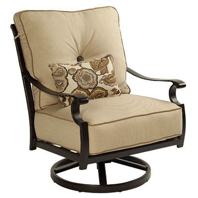 Monterey Ultra High Back Outdoor Swivel Spring Lounge Chair by Castelle