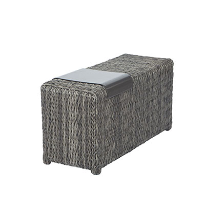 Orsay Woven End Table Section with Tray by Ebel