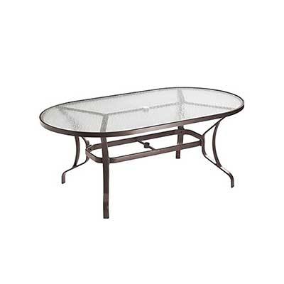 """KD 72""""X42"""" Oval Dining Table with glass top"""