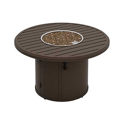 """Banchetto 42"""" Round Fire Pit with brown finish by Tropitone"""