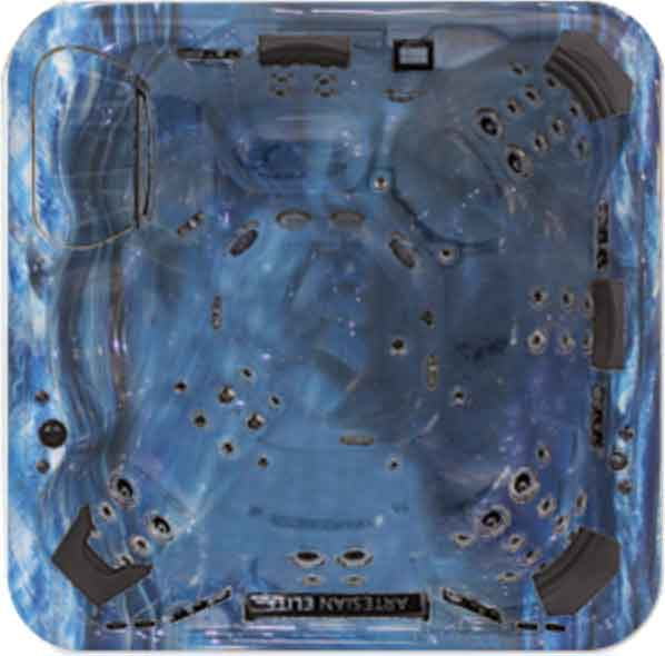 Artesian Elite Dove Canyon Spa & Hot Tub Shell - Summer Sapphire