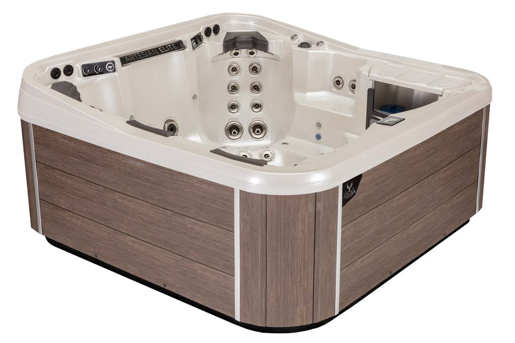Monarch Elite Hot Tub Cabinetry Color - Mocha
