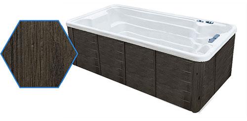 Dual Temp 19' TidalFit Swim Spa & Hot Tub Antique Cabinetry