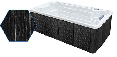 Dual Temp 19' TidalFit Swim Spa & Hot Tub Black Cabinetry