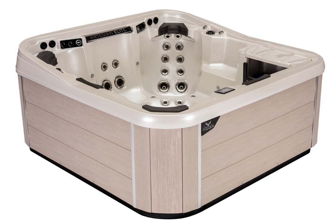 Monarch Elite Hot Tub Cabinetry Color - Sea Oats