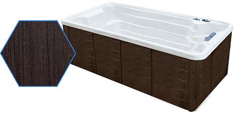 Dual Temp 19' TidalFit Swim Spa & Hot Tub Java Cabinetry
