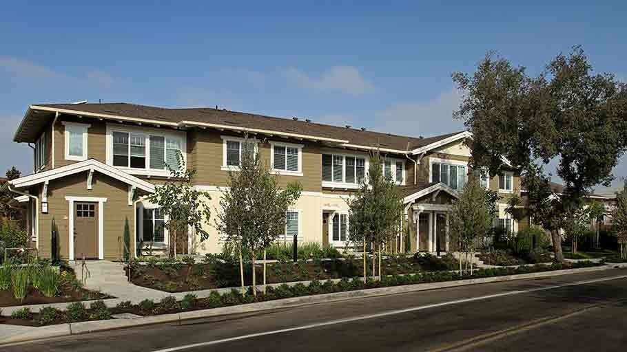 Jamboree'™s Greenleaf craftsman style building Anaheim, CA streetview