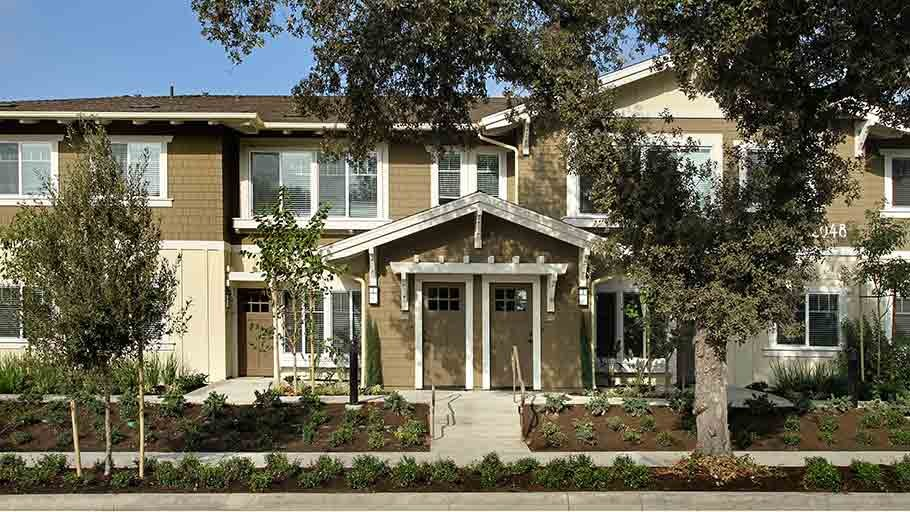 Jamboree's Greenleaf affordable craftsman style housing in Anaheim, CA